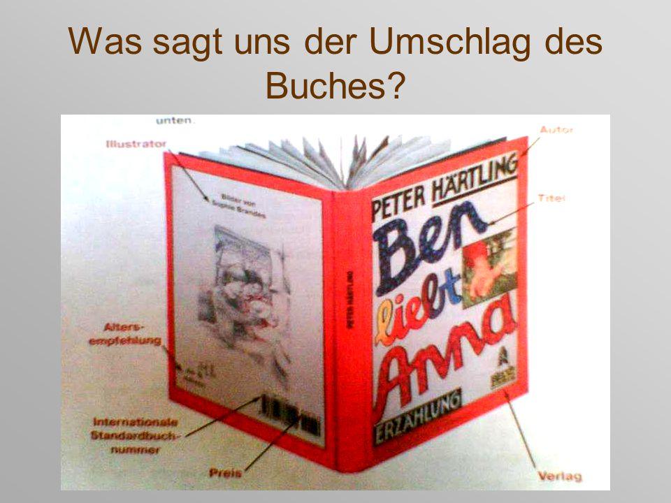 Was sagt uns der Umschlag des Buches?