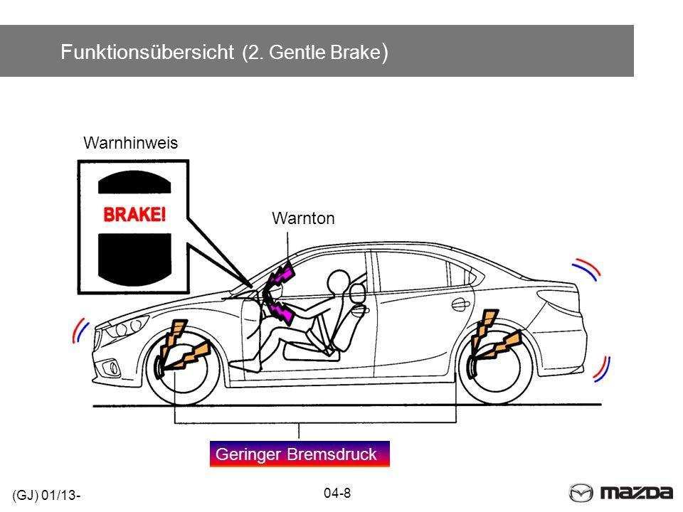 Funktionsübersicht (2. Gentle Brake ) 04-8 (GJ) 01/13- Warnton Warnhinweis Geringer Bremsdruck