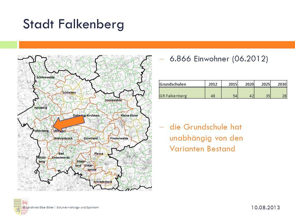 Stadt Falkenberg  6.866 Einwohner (06.2012)  die Grundschule hat unabhängig von den Varianten Bestand 10.08.2013 © Landkreis Elbe-Elster | Schulverw