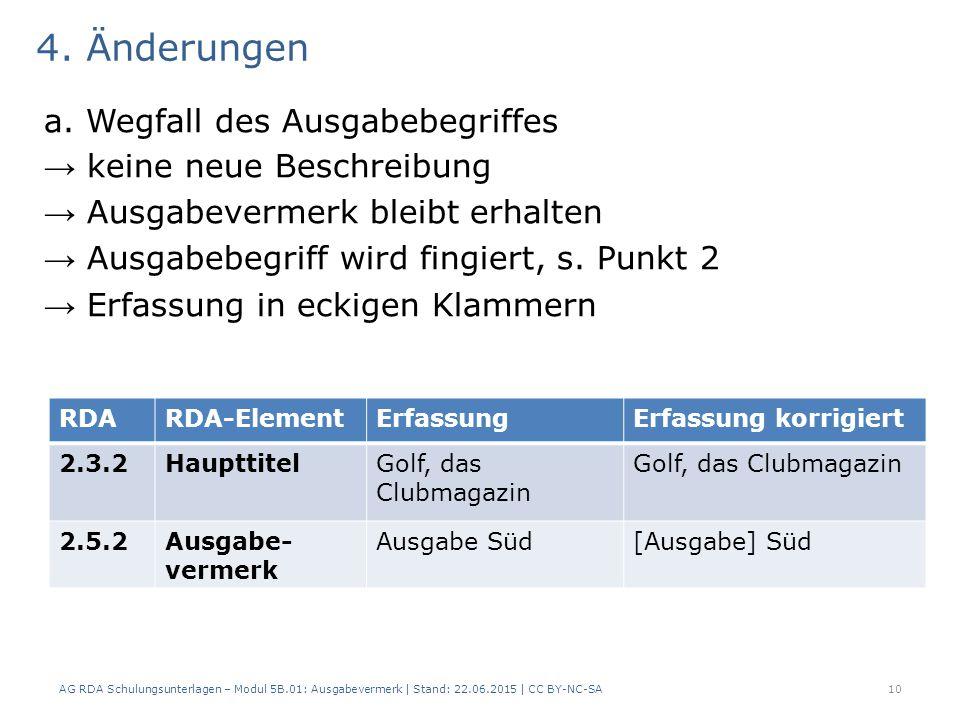 4. Änderungen a.
