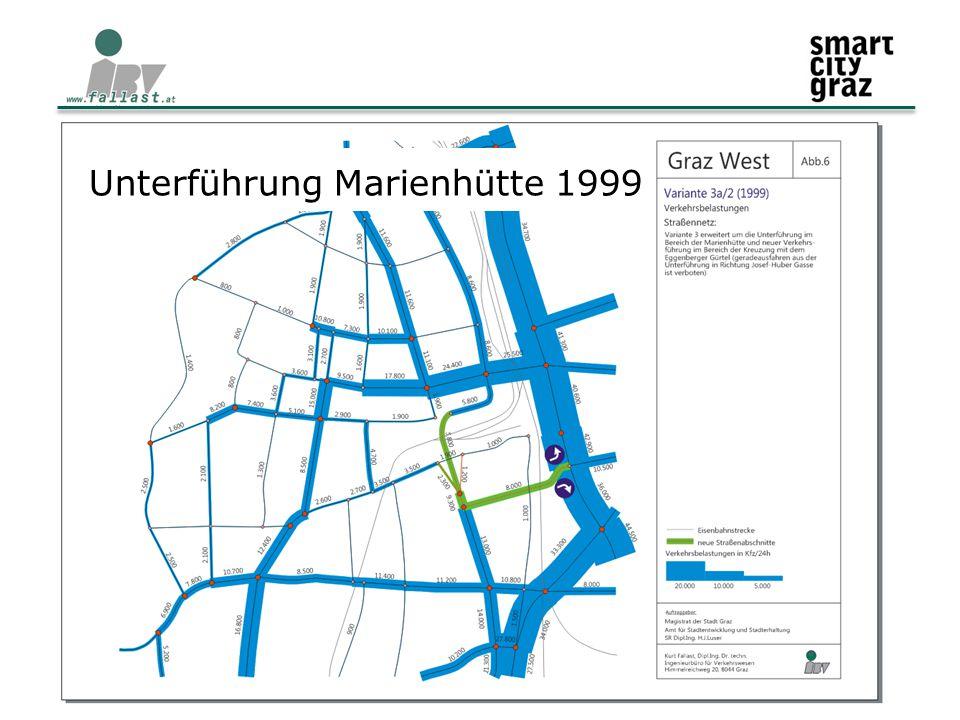 11.02.2015 Verkehr und Mobilität im Stadtteil 4 Unterführung Marienhütte 1999