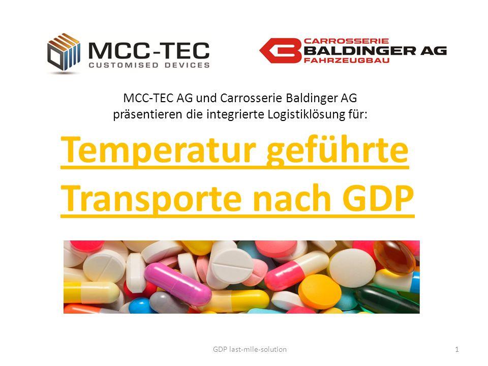 GDP last-mile-solution1 Temperatur geführte Transporte nach GDP MCC-TEC AG und Carrosserie Baldinger AG präsentieren die integrierte Logistiklösung fü