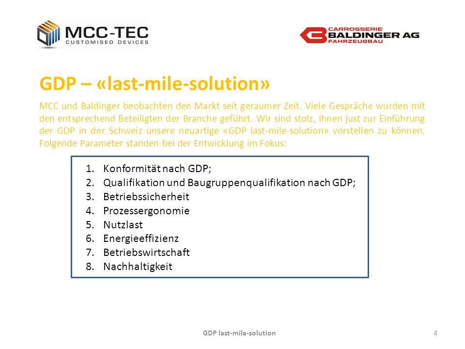GDP last-mile-solution4 GDP – «last-mile-solution» MCC und Baldinger beobachten den Markt seit geraumer Zeit. Viele Gespräche wurden mit den entsprech
