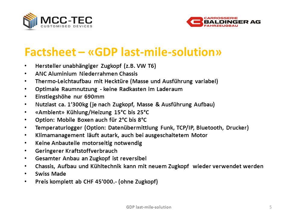 GDP last-mile-solution6 Impressionen – «GDP last-mile-solution» *Zugkopf (z.B.