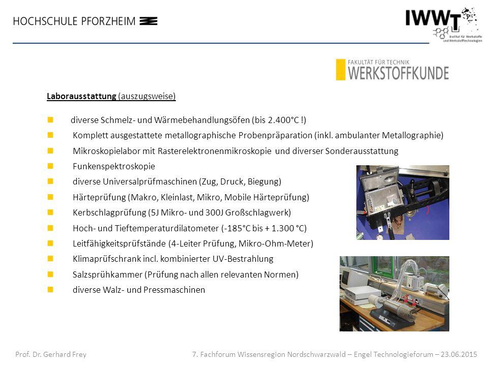 Laborausstattung (auszugsweise) diverse Schmelz- und Wärmebehandlungsöfen (bis 2.400°C !) Komplett ausgestattete metallographische Probenpräparation (