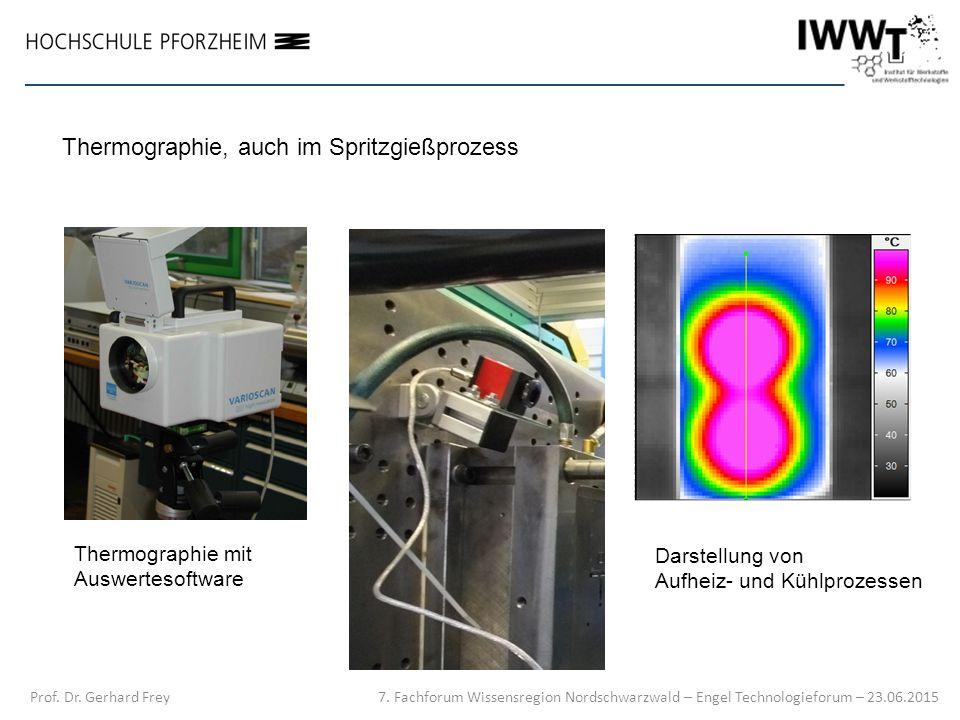 7. Fachforum Wissensregion Nordschwarzwald – Engel Technologieforum – 23.06.2015 Prof. Dr. Gerhard Frey Thermographie, auch im Spritzgießprozess Therm