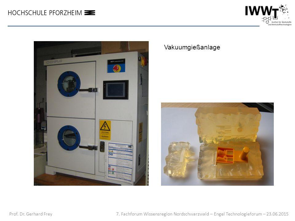 7. Fachforum Wissensregion Nordschwarzwald – Engel Technologieforum – 23.06.2015 Prof. Dr. Gerhard Frey Vakuumgießanlage