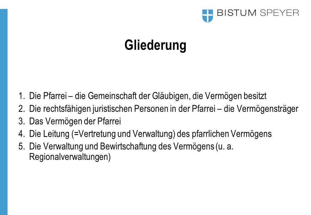 3.Das Vermögen in der Pfarrei Gemeindepastoral 2015 2.