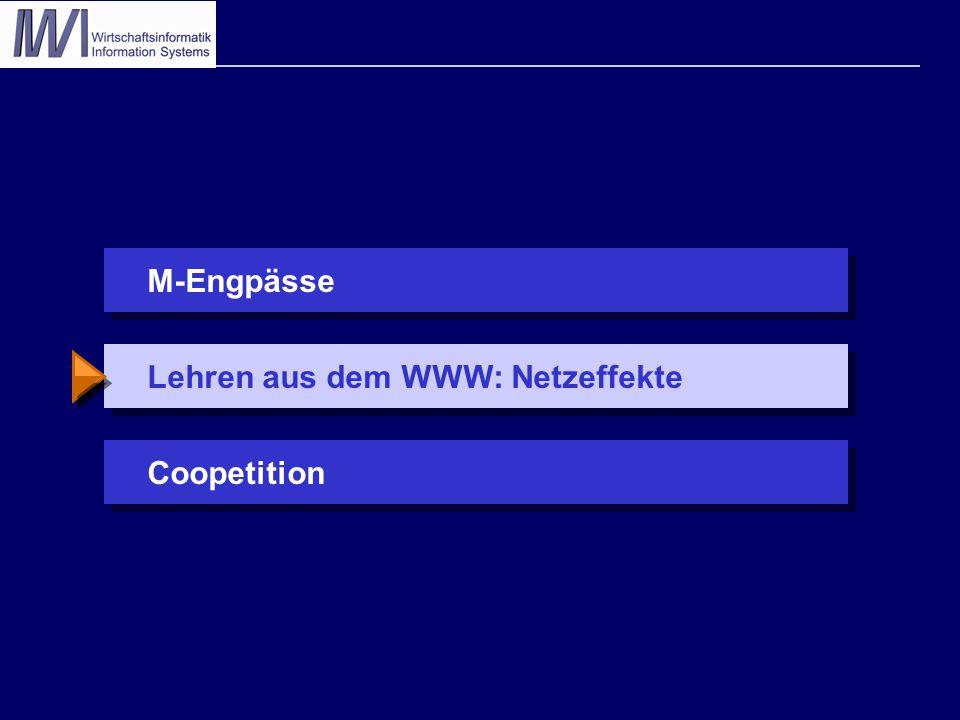 Lehren aus dem WWW: NetzeffekteCoopetitionM-Engpässe