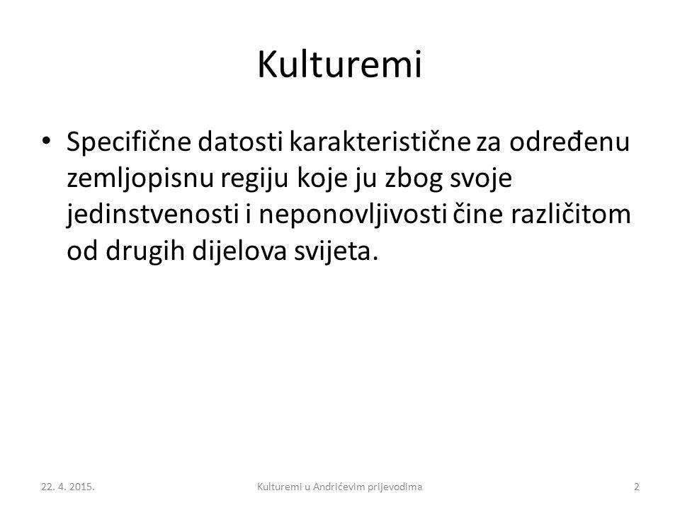 Struktura (1) Predgovor Uvodni dio Teorijski okvir Ivo Andrić, N A D RINI ĆUPRIJA i T RAVNIČKA HRONIKA Paratekstualna analiza 22.