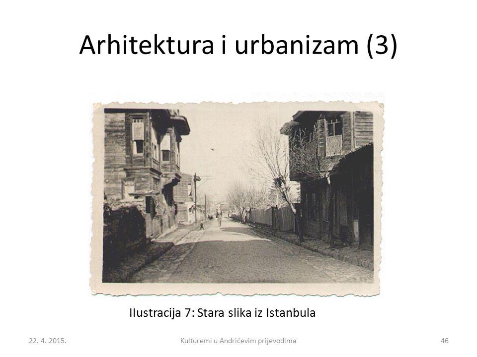 Arhitektura i urbanizam (3) IIustracija 7: Stara slika iz Istanbula 22. 4. 2015.46Kulturemi u Andrićevim prijevodima