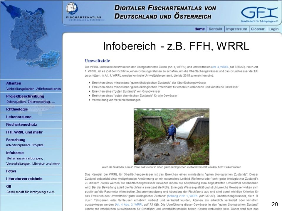 20 Infobereich - z.B. FFH, WRRL