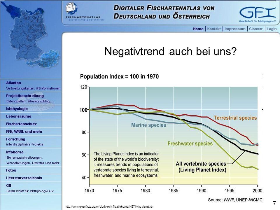 8 Ja und nein.Rote Liste der Fische von Deutschland (Freyhof 2009): Tab.