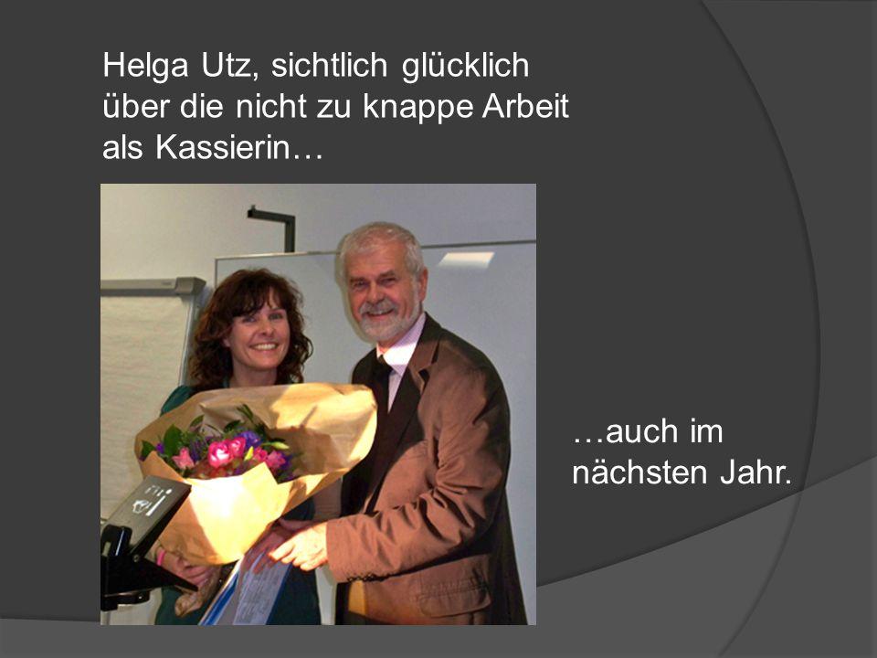 Helga Utz, sichtlich glücklich über die nicht zu knappe Arbeit als Kassierin… …auch im nächsten Jahr.