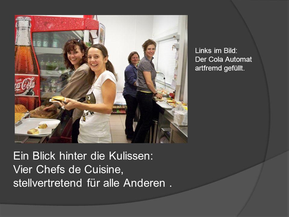 Ein Blick hinter die Kulissen: Vier Chefs de Cuisine, stellvertretend für alle Anderen.