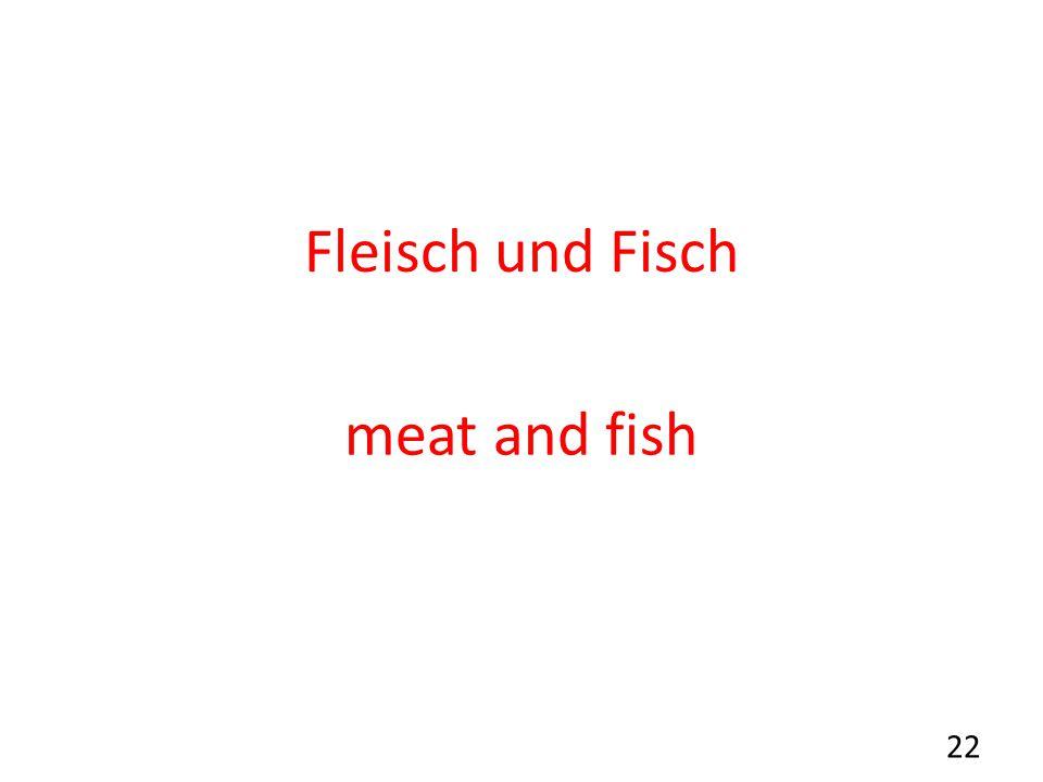 Fleisch und Fisch meat and fish 22