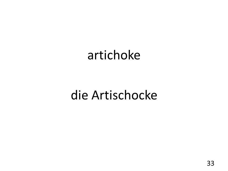 artichoke die Artischocke 33