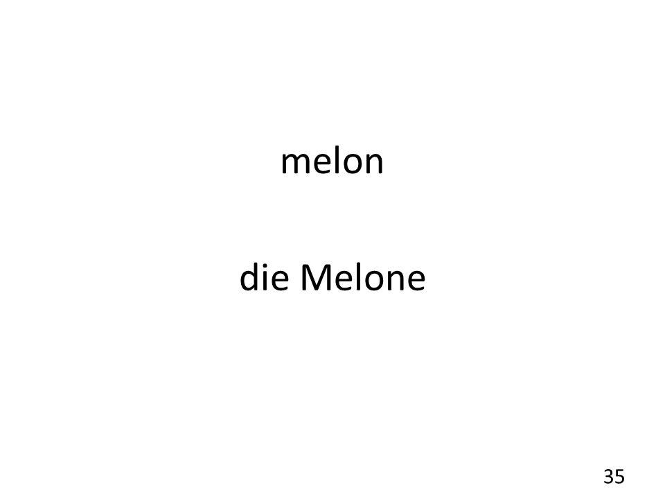 melon die Melone 35