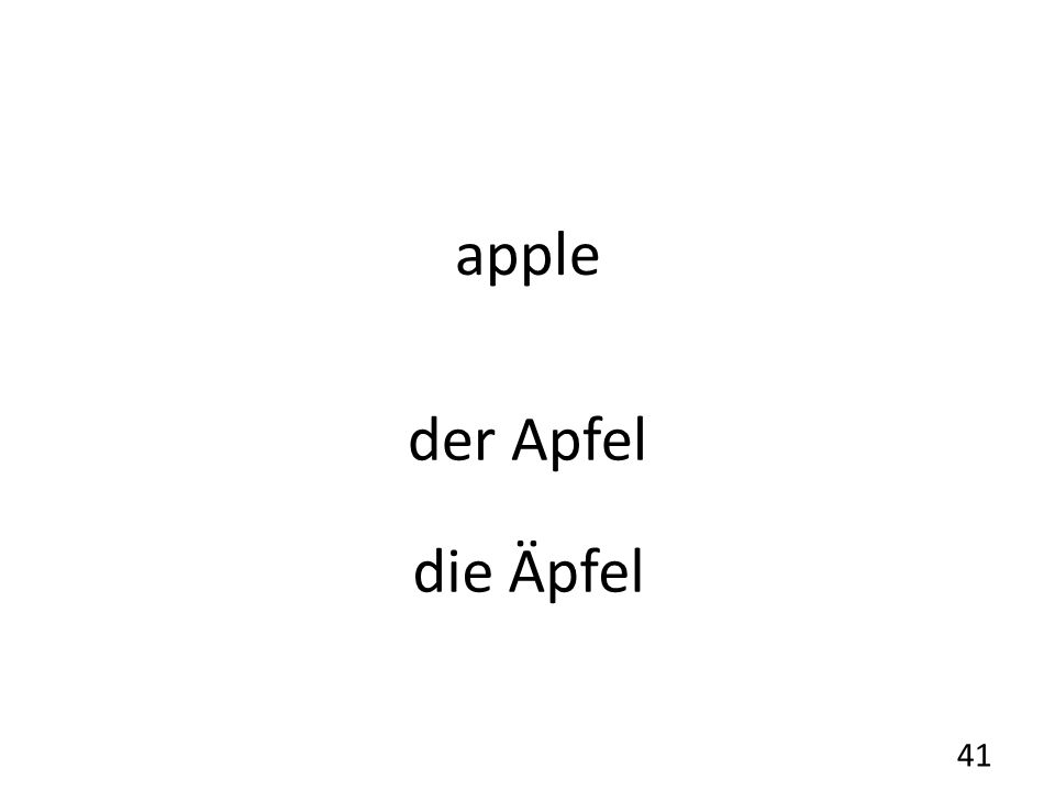 apple der Apfel 41 die Äpfel