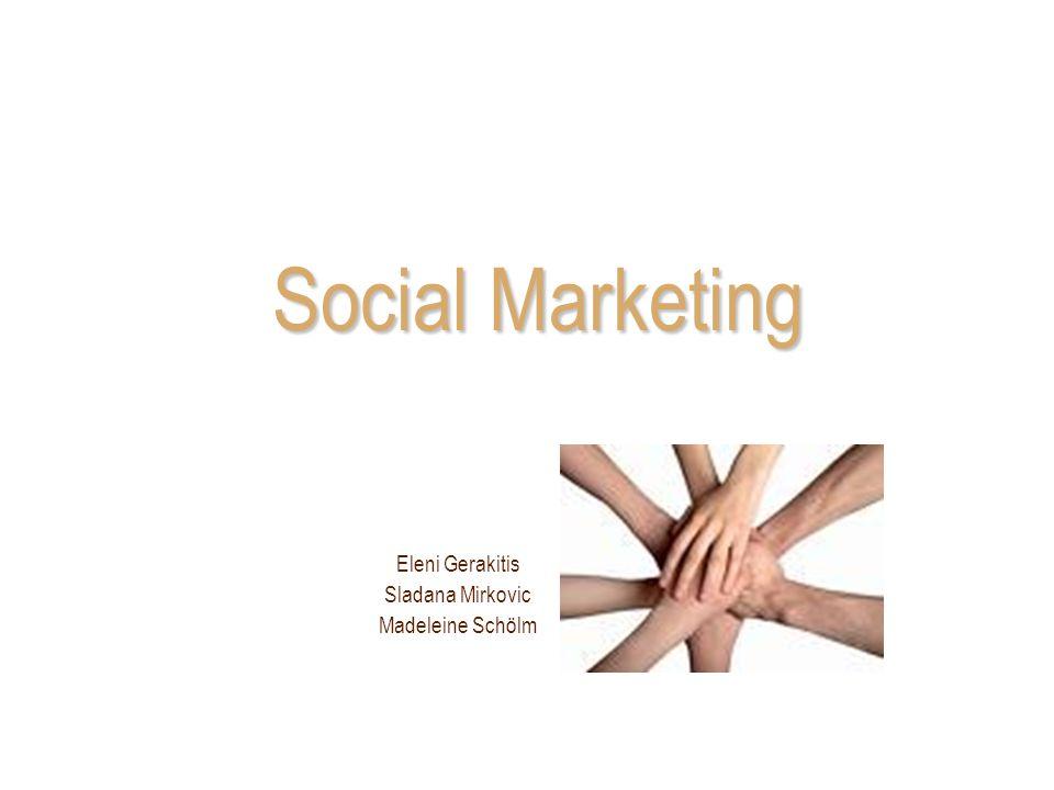 Social Marketing Definition Formen von NPOs Marketinginstrumente –Fallstudie