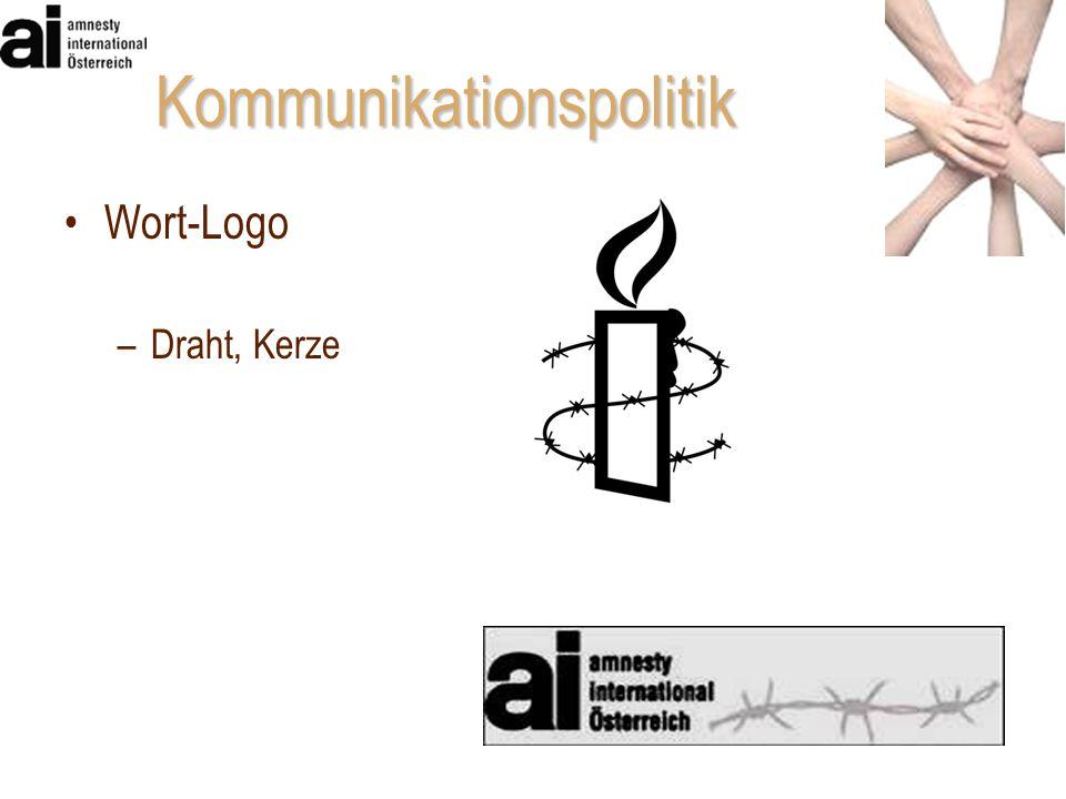 Wort-Logo –Draht, Kerze Kommunikationspolitik