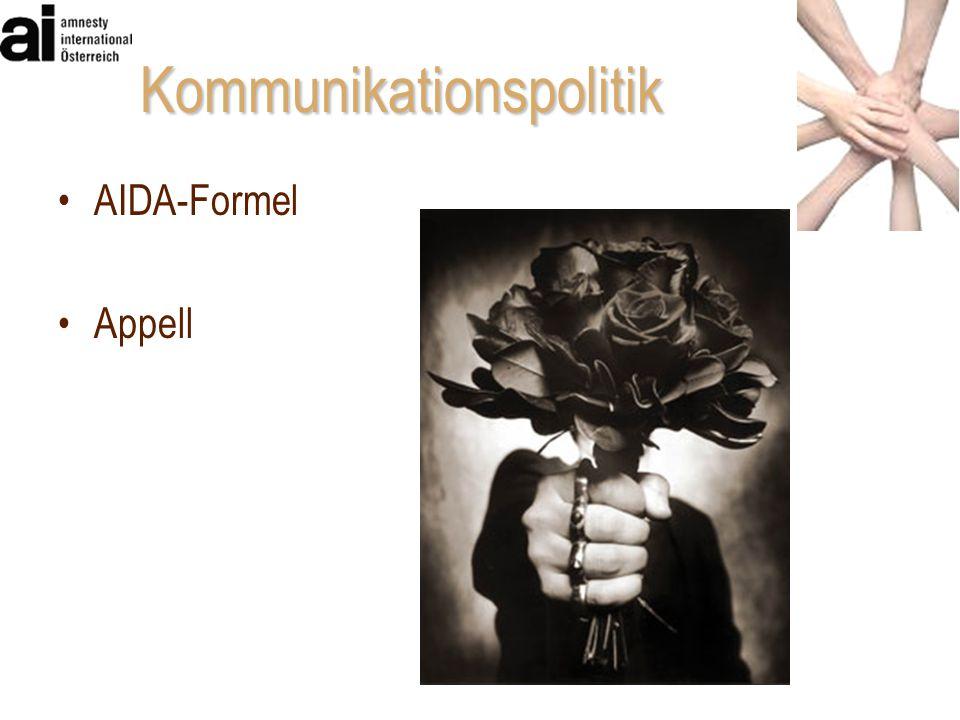 AIDA-Formel Appell Kommunikationspolitik