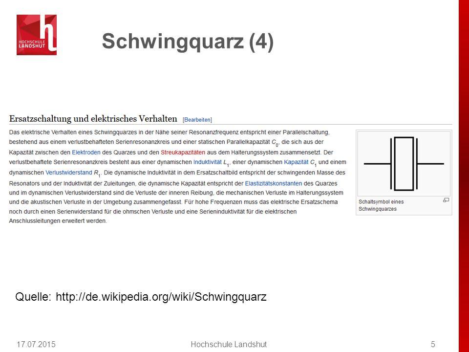Geänderte Praktikumstermine 17.07.20156Hochschule Landshut