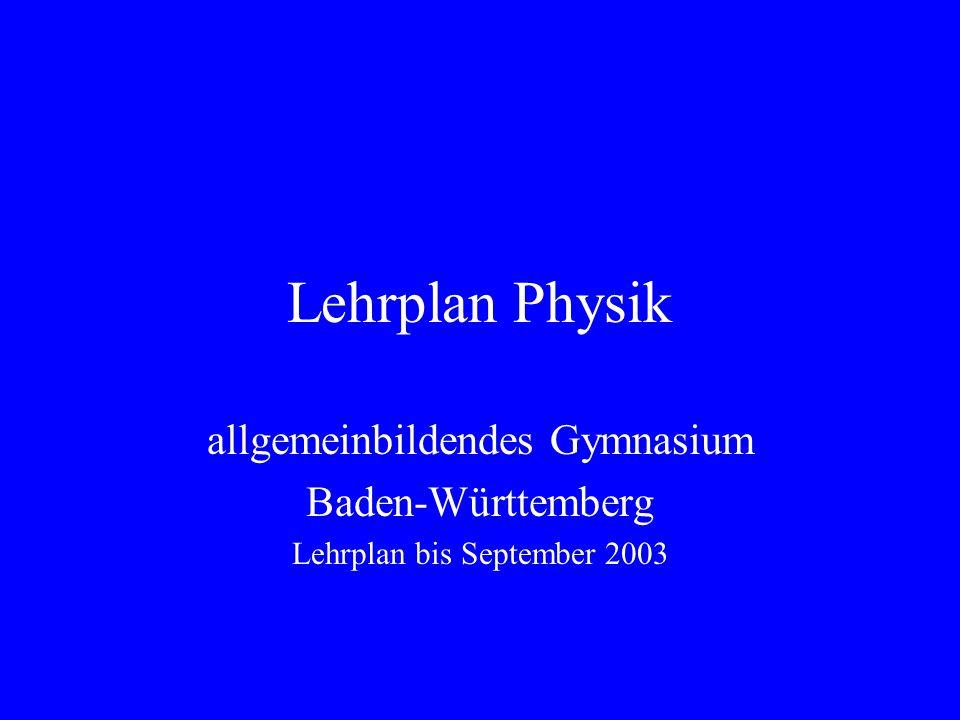 21 Stufe 12/13 Interferenz und Beugung Grundgedanken der Quantenphysik Einführung in die Atomphysik Praktikum Wahlthemen