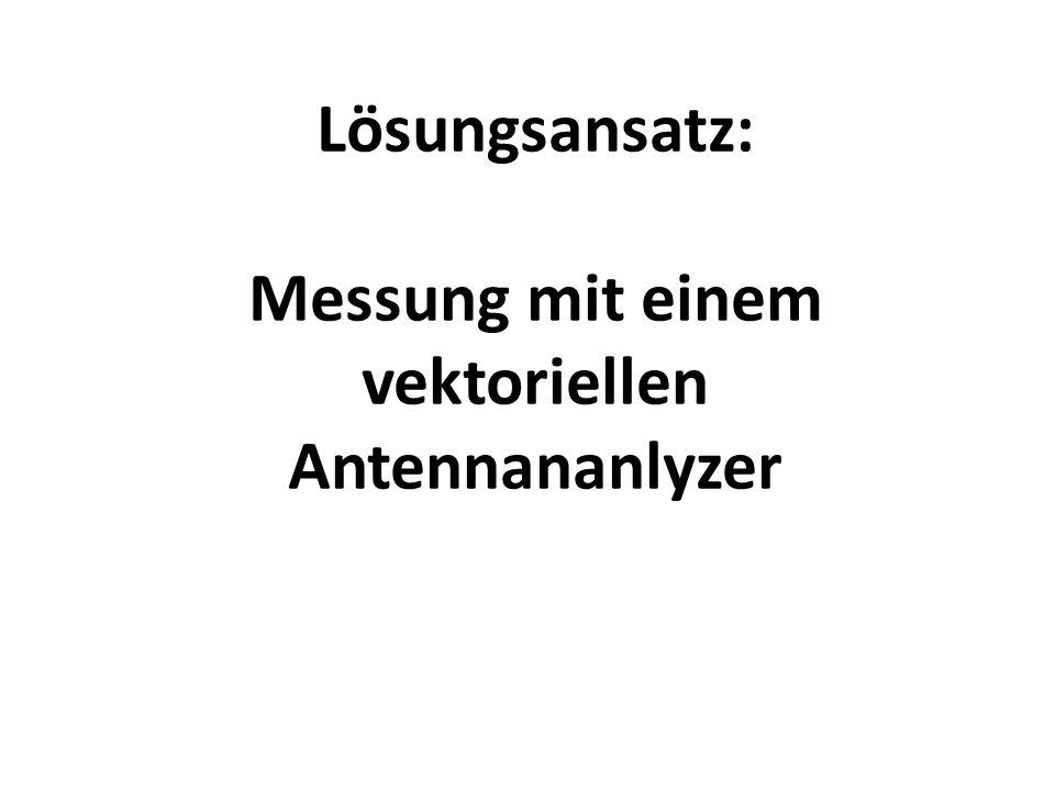 Lösungsansatz: Messung mit einem vektoriellen Antennananlyzer