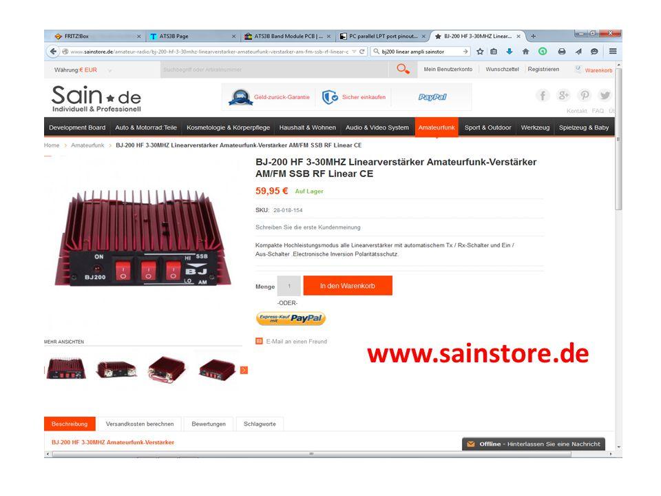 FrequenzbereichHF Betriebsspannung12-14 Vcc Eingangsstrom14-20 A Eingangsleistung3-5 W SSB Eingangsleistung2-10 W FM AusgangsleistungMax 50 W(Input 10W) AM AusgangsleistungMax 100 W(Input 10W) SSB AusgangsleistungMax 55 W(Input 10W) Max 50W (Input 5W ) BetriebsmodusFM- AM-CW-SSB Durchgebrannte Sicherung 2x12 A Größe120x125x38 mm Nettogewicht450 g.