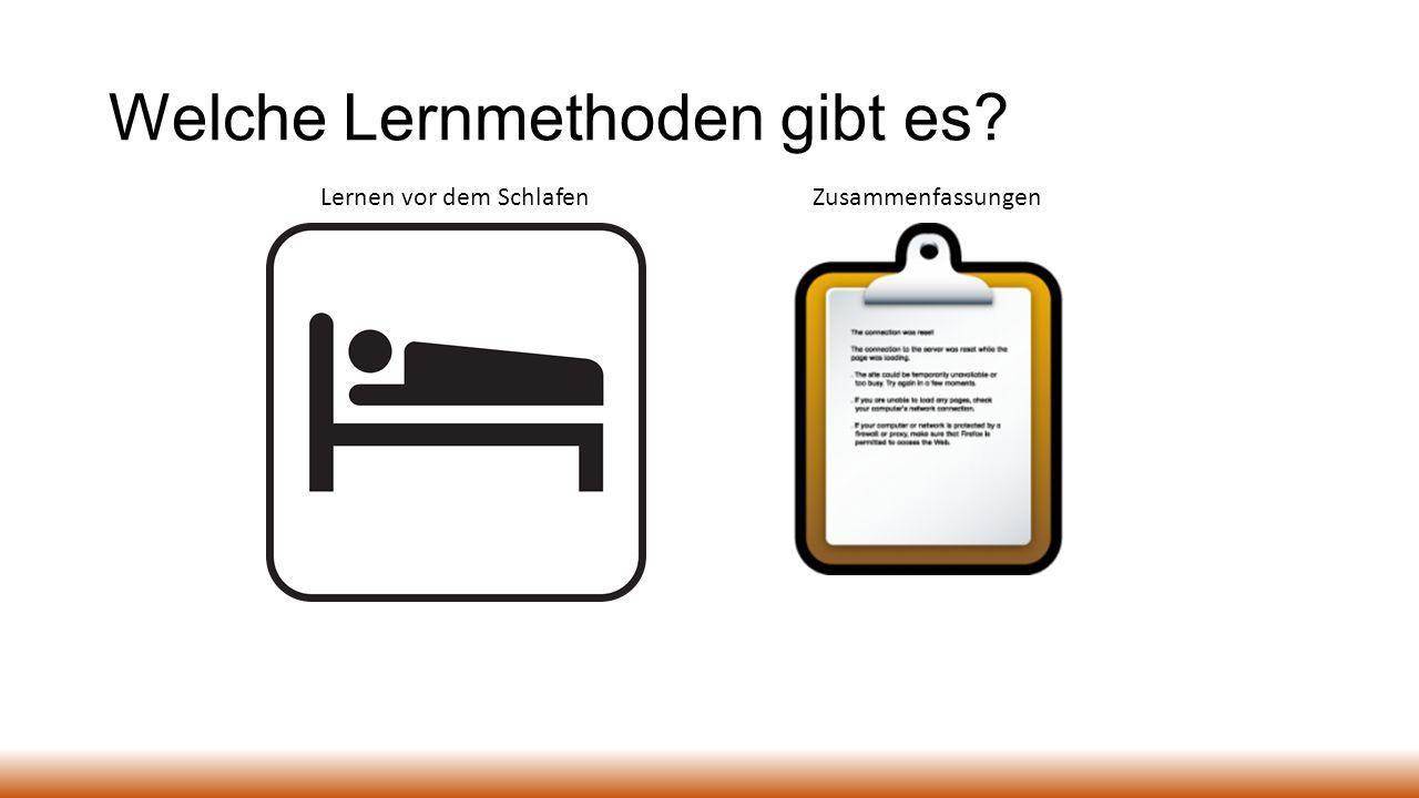 Welche Lernmethoden gibt es? Lernen vor dem SchlafenZusammenfassungen