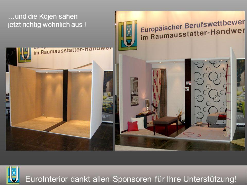 EuroInterior dankt allen Sponsoren für Ihre Unterstützung.