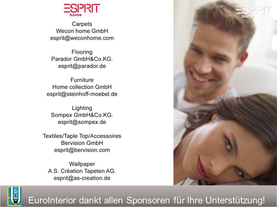 EuroInterior dankt allen Sponsoren für Ihre Unterstützung!