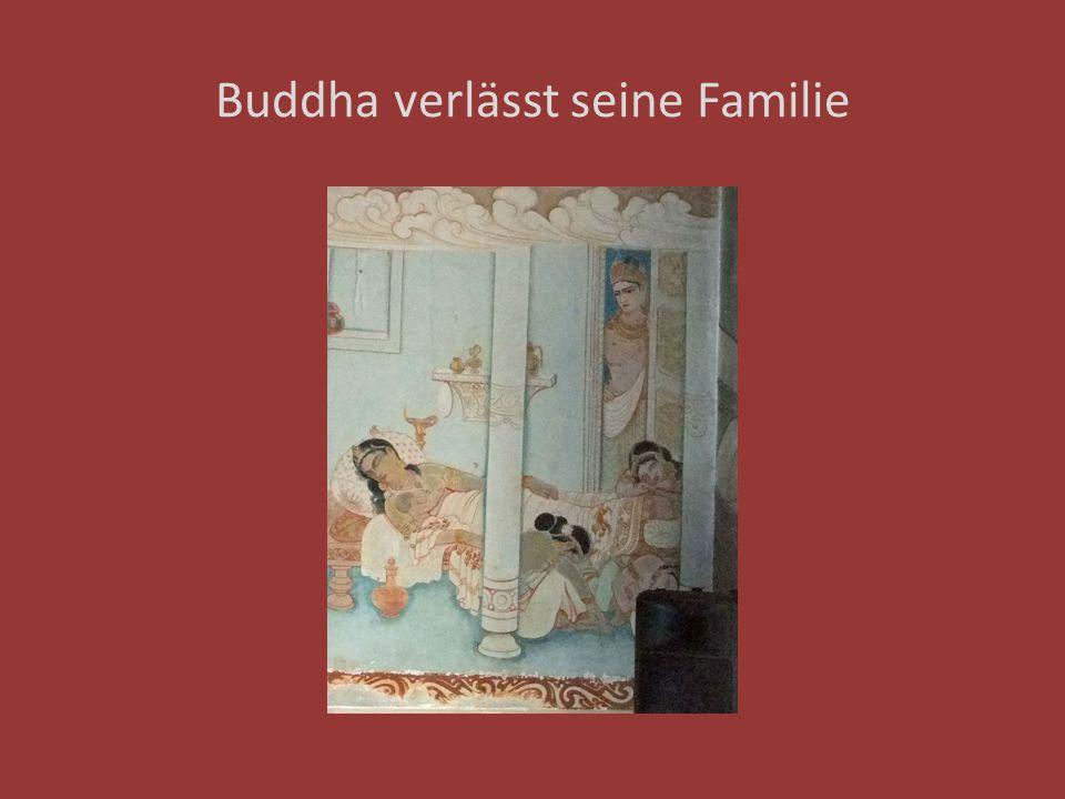 Buddha verlässt seine Familie