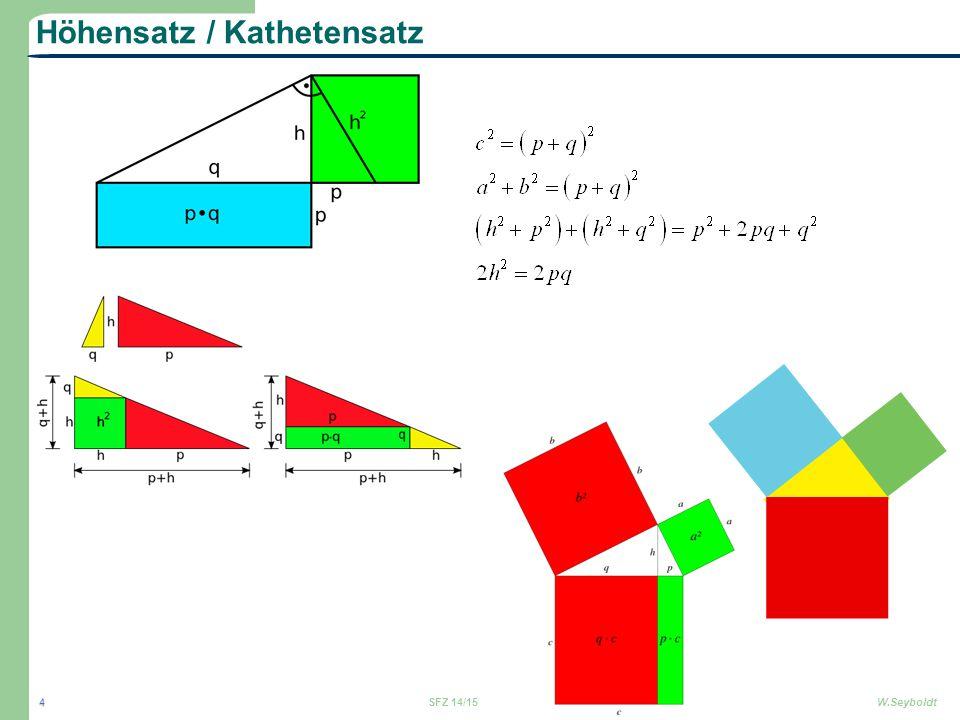 Höhensatz / Kathetensatz SFZ 14/15W.Seyboldt 4
