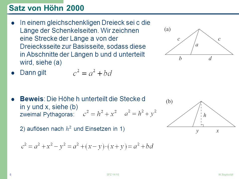 Satz von Höhn 2000 SFZ 14/15W.Seyboldt 6
