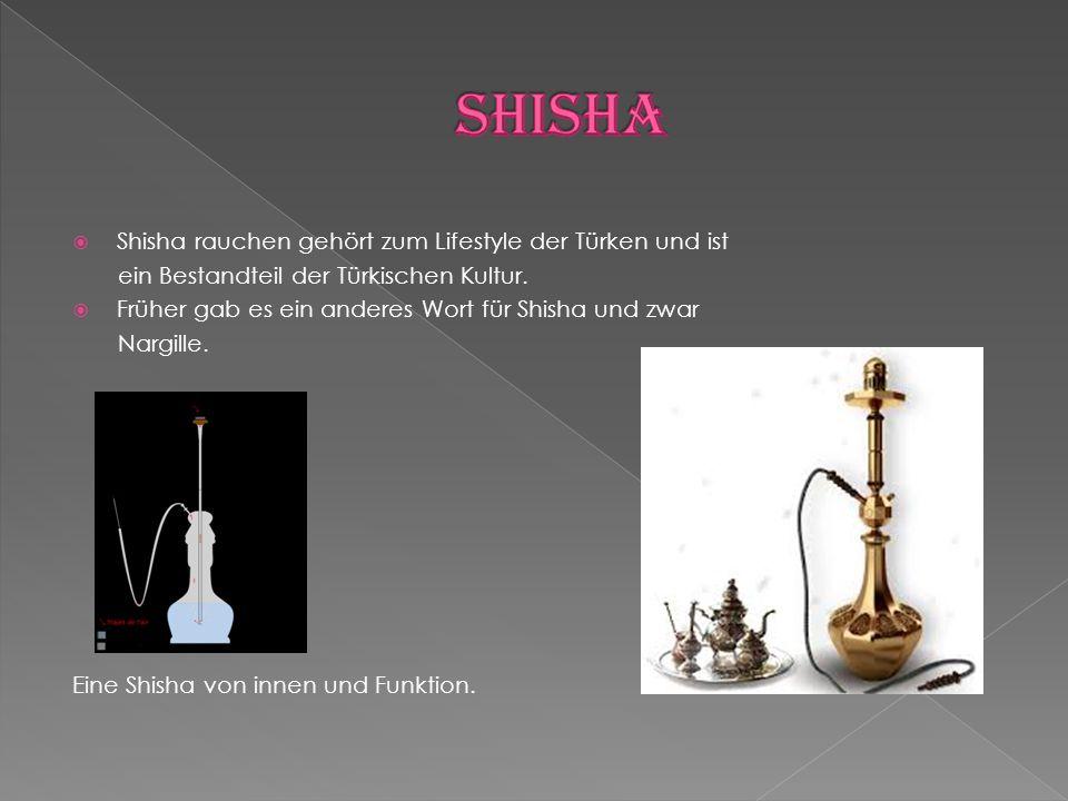  Shisha rauchen gehört zum Lifestyle der Türken und ist ein Bestandteil der Türkischen Kultur.  Früher gab es ein anderes Wort für Shisha und zwar N