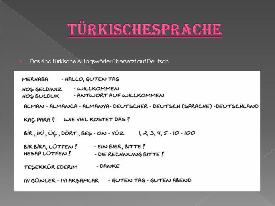  Das sind türkische Alltagswörter übersetzt auf Deutsch.
