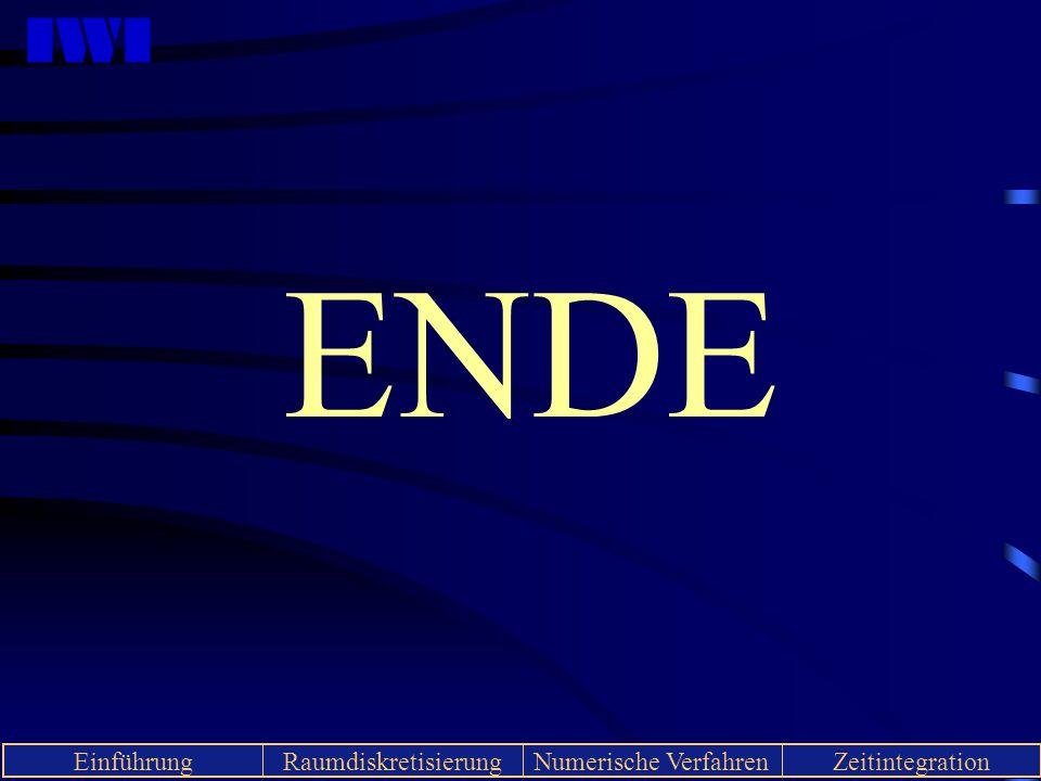 IWI EinführungRaumdiskretisierungNumerische VerfahrenZeitintegration ENDE