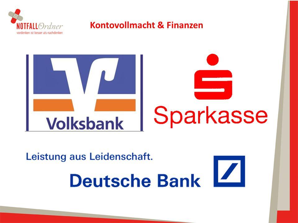 Kontovollmacht & Finanzen