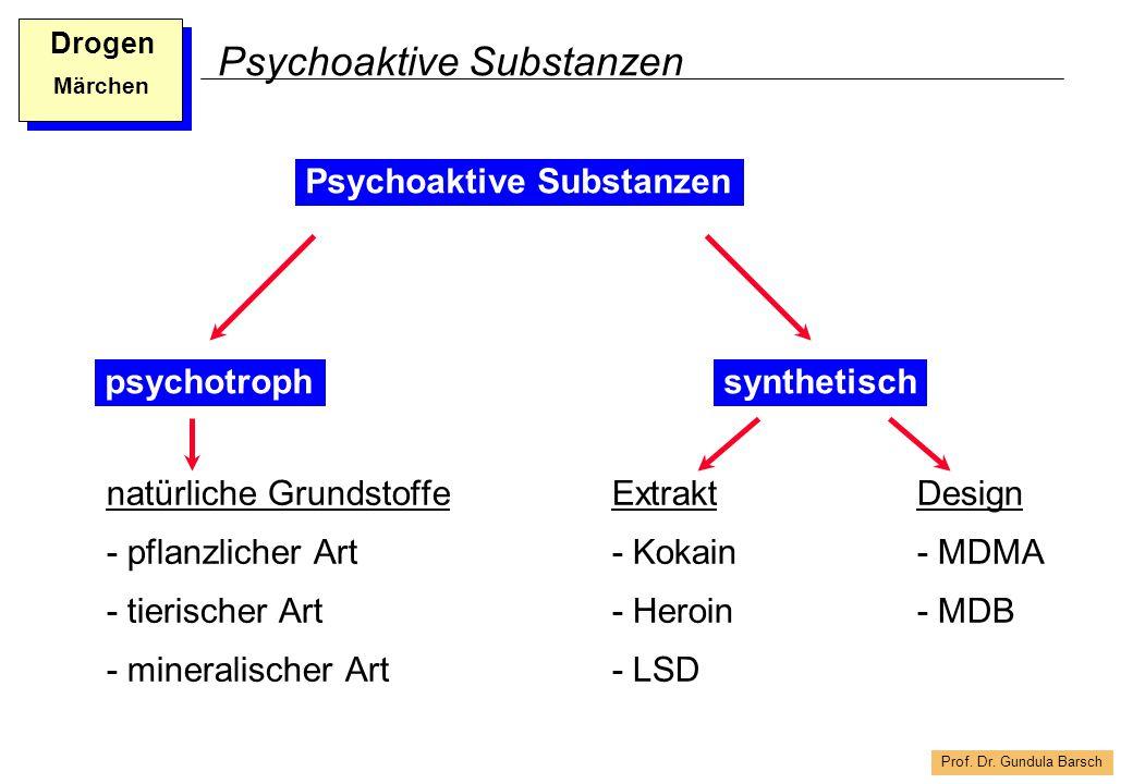 Prof. Dr. Gundula Barsch Drogen Märchen Psychoaktive Substanzen natürliche Grundstoffe - pflanzlicher Art - tierischer Art - mineralischer Art psychot