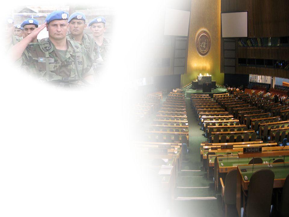 """Rolle der UNO im Nahost-Konflikt Ziele/Einsatzbereiche: Friedensmission mit Präsenz und """"robustem Mandat humanitäre, logistische und sanitäre Versorgung"""
