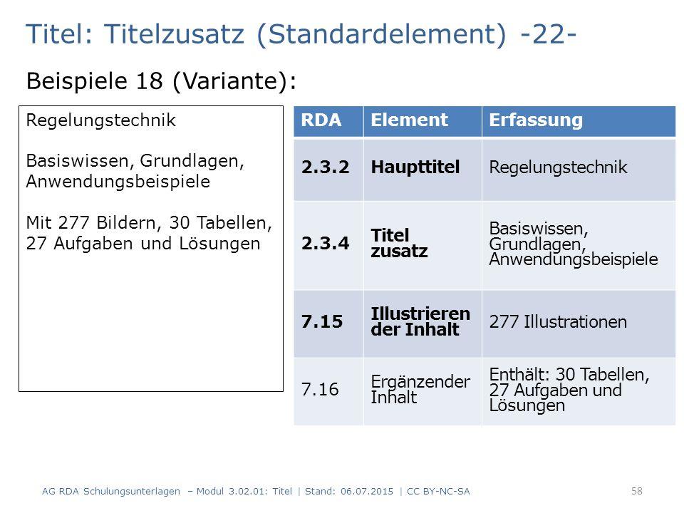 Titel: Titelzusatz (Standardelement) -22- Beispiele 18 (Variante): Regelungstechnik Basiswissen, Grundlagen, Anwendungsbeispiele Mit 277 Bildern, 30 T