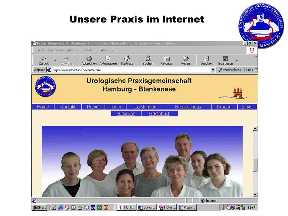 Unsere Praxis im Internet