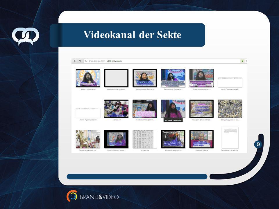 Videokanal der Sekte