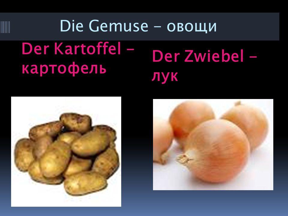 Der Kartoffel - картофель Der Zwiebel - лук