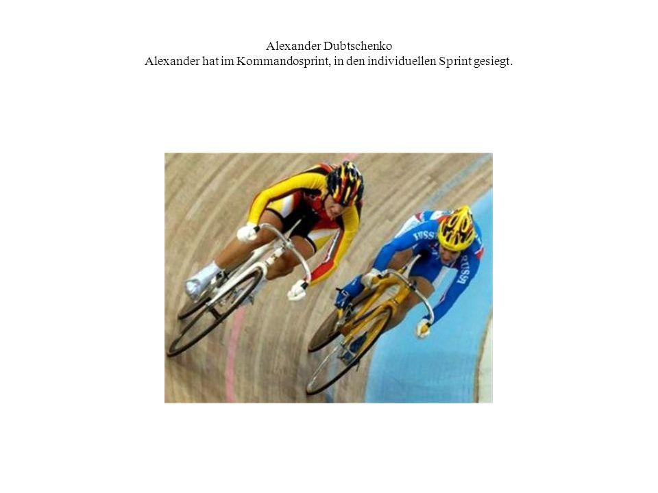 Alexander Dubtschenko Alexander hat im Kommandosprint, in den individuellen Sprint gesiegt.