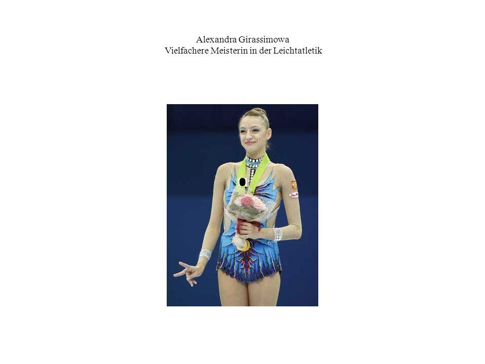 Alexandra Girassimowa Vielfachere Meisterin in der Leichtatletik