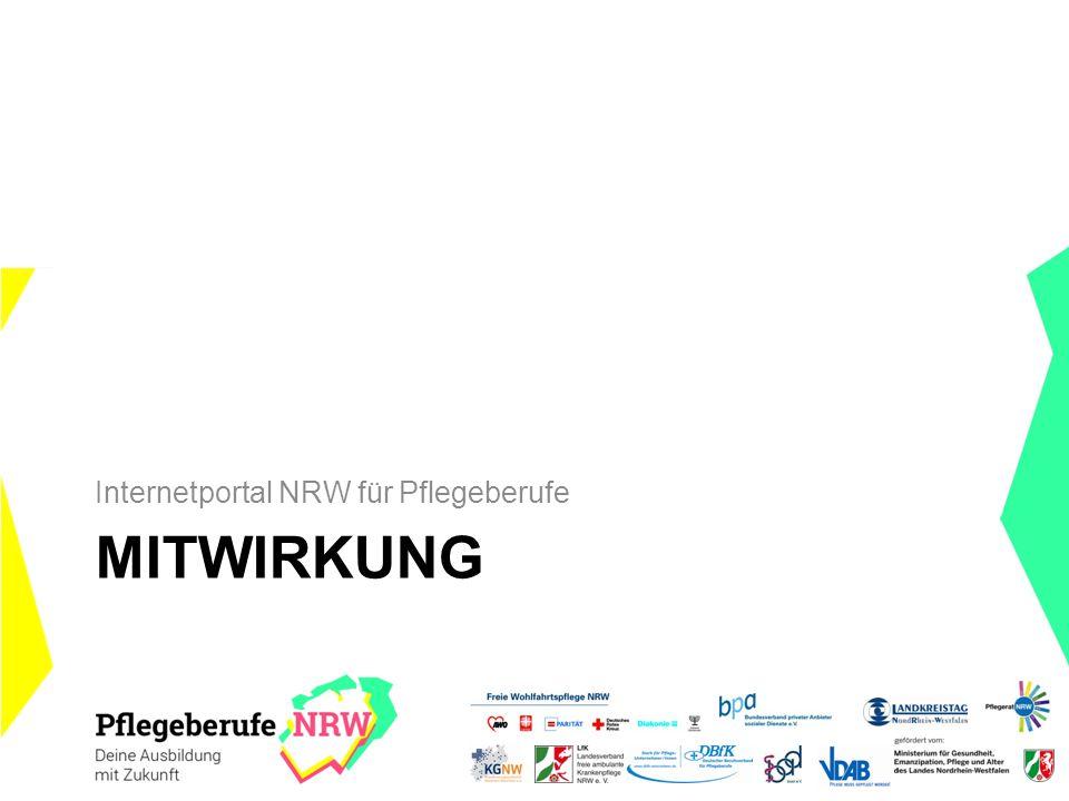 MITWIRKUNG Internetportal NRW für Pflegeberufe