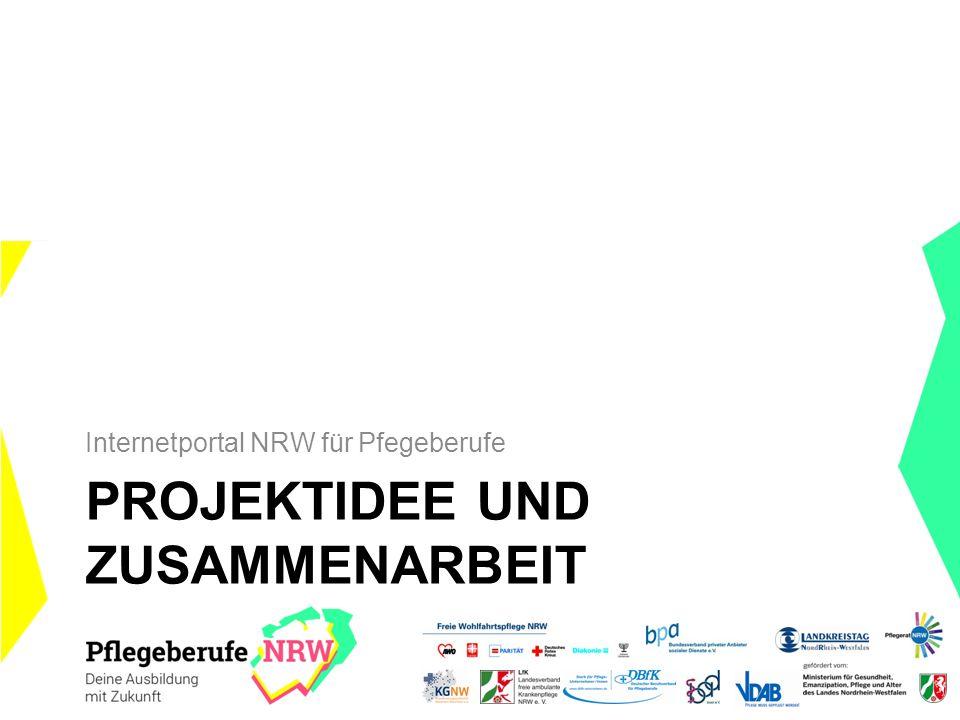 PROJEKTIDEE UND ZUSAMMENARBEIT Internetportal NRW für Pfegeberufe